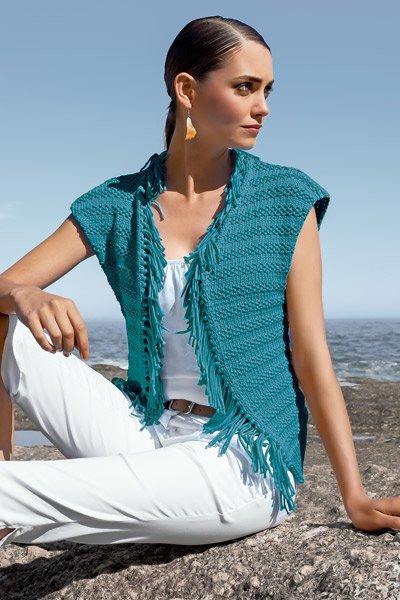 Knitted Fringe Vest