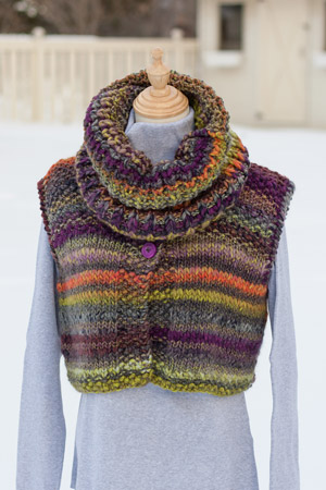 Vest and cowl knitting pattern