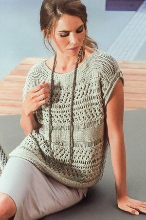 knit top in pattern mix