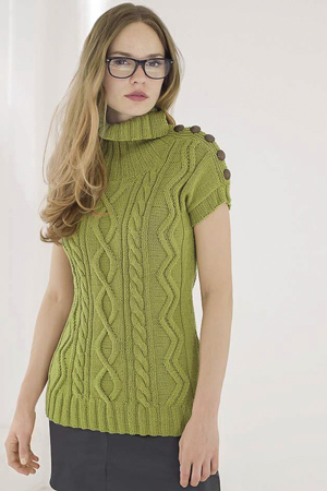 knit sweater with cables