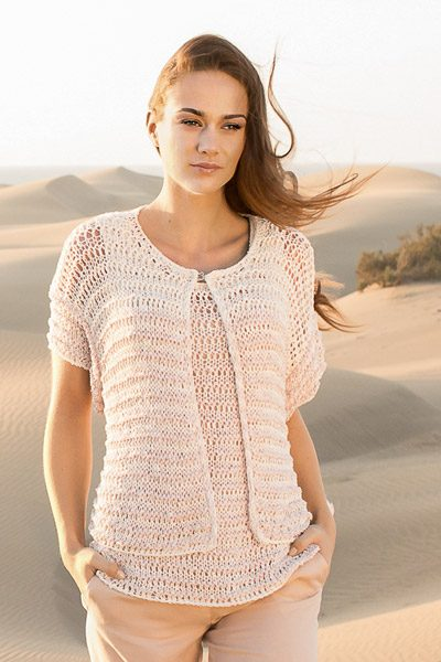 twinset in openwork pattern - knitting pattern